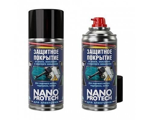 NANOPROTECH Защитное покрытие от влаги для лодочного мотора, гидроцикла (для электрики) 210мл 1/12