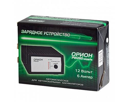 Зарядное-предпусковое уст-во ОРИОН PW-260P,12V, 0.4-6A автомат 220V