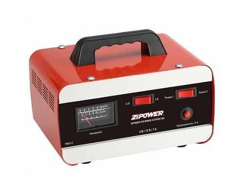 PM6513 Зарядное устройство ZIPOWER Для аккумуляторных батарей: 6/12 В. Максимальный ток зарядки: 7 А