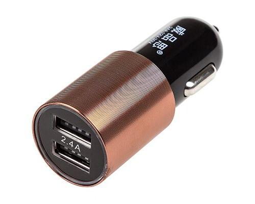 Зарядное устройство (адаптер) 12/24V USBх2 (1.0А+2.4А) SW Черный/коричневый в коробке