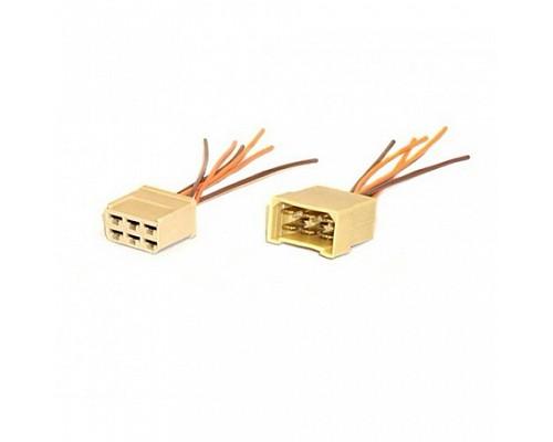 Колодка на 6 контактов с проводами ДИАЛУЧ КЛ067-1