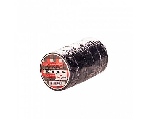 KLEBEBANDER Изолента ПВХ 19*10 черная TIK956T (5шт) 1/200
