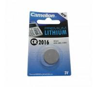 Элемент питания CR2016-BL1 LITHIUM таблетка (автобрелки) 3V CAMELION (1шт/блистер)