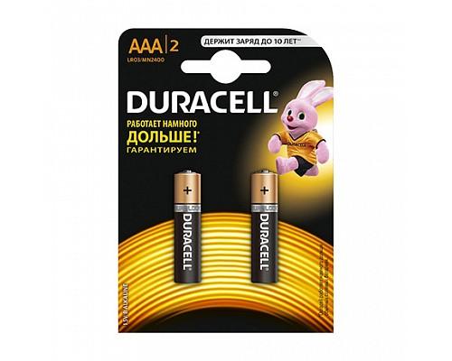 Элемент питания AAA LR03-BC2 ALKALINE BASIC 1,5V DURACELL (2шт/блистер) 2/20