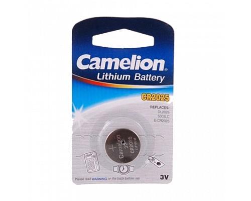 Элемент питания CR2025-BL1 LITHIUM таблетка (автобрелки) 3V CAMELION (1шт/блистер)