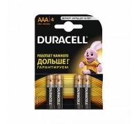 Элемент питания AAA LR03-BC4 ALKALINE BASIC 1,5V DURACELL (4шт/блистер) 4/20