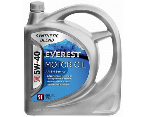 Everest Масло моторное 5W40 SN (A3/B3/B4) (synt.) (5л)