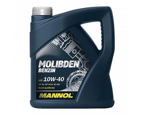 MANNOL MOLIBDEN BENZIN SAE 10w40 Полусинтетическое масло c MoS2 (4л.) 1/4шт. 1121