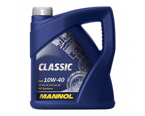 MANNOL CL40420 П/синт. моторное масло CLASSIC SAE 10W/40 (4л.) 1/4шт. 1101