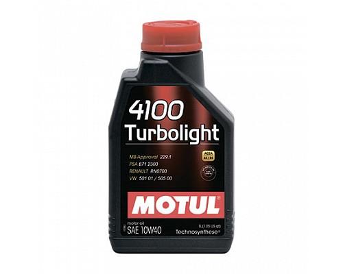 Motul Масло  моторное Technosynthese 10w40 4100 Turbolight A3/B4, SL/CF/1L/12шт