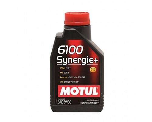 Motul Масло  моторное Technosynthese 5w30 6100+ Synergie  A3/B4, SL/CF/1L 1/12 106521