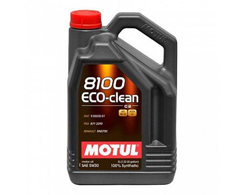 Motul Масло  моторное синт 5w30 8100 Eco-Clean С2 SM/CF /5L/ 1/4 101545