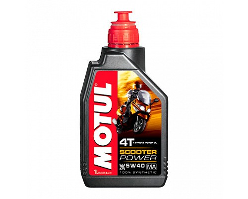 Motul Масло 4Т мото синт Scooter Power 5w40  SJ, MA /1L/ 101260