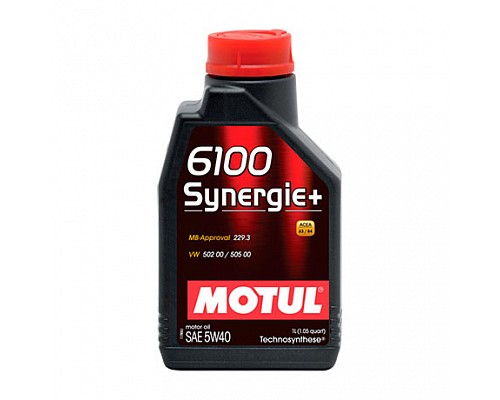 Motul Масло  моторное Technosynthese 5w40 6100+ Synergie  A3/B4, SL/CF/1L 1/12 107975