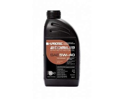 SUPROTEC Atomium Масло синтетическое 5w-40 1л 1/12шт (РЦ 1250р.)