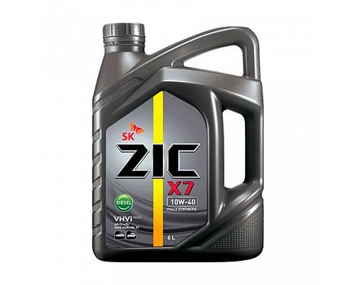 ZIC X7 Diesel SAE 10w40 API CI-4 п/с мот.масло 6л 30691 (Замена 5000 diesel 10w40 п/с) 1шт./4шт.