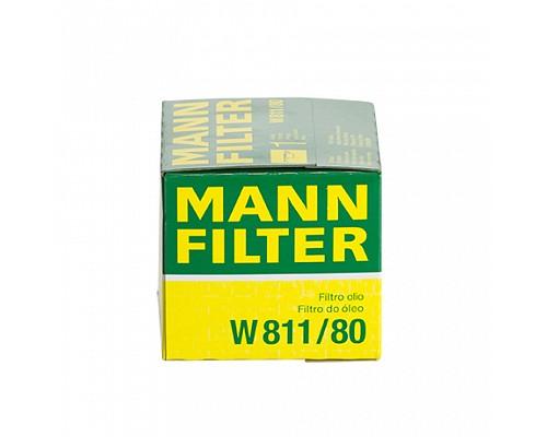 MANN FILTER Фильтр маслянный W 811/80 HYUNDAI,MAZDA,MITSUBISHI