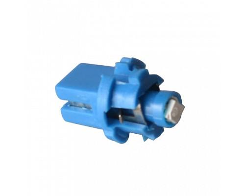 Автолампа МАЯК Свет-от 12V T5 бц 1 LED Blue(P8.7) 1,2W W2.0x4 6D (упак.10шт.) (46) 12T5-B