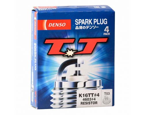 DENSO свеча зажигания  K16TT4 TT (Twi Tip) (мин. 4шт) (4603 T03)