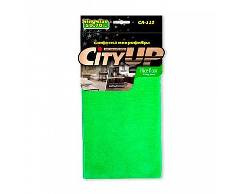 Салфетка City UP-112 L микрофибра Nice Floor 50*70 (300мг) 1шт./120шт.