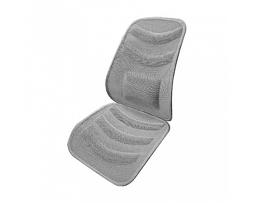 Накидка автомобильная на переднее сиденье, вентилируемая сетка, 3D (серая) 101350