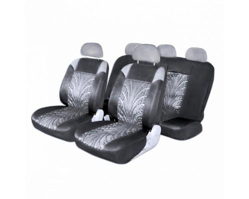 Чехлы сиденья SKYWAY Forward- 1 полиэстер 11 предм. черно/серый