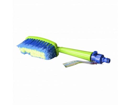 Щетка для мытья автомобиля (под шланг) с краником K-30521