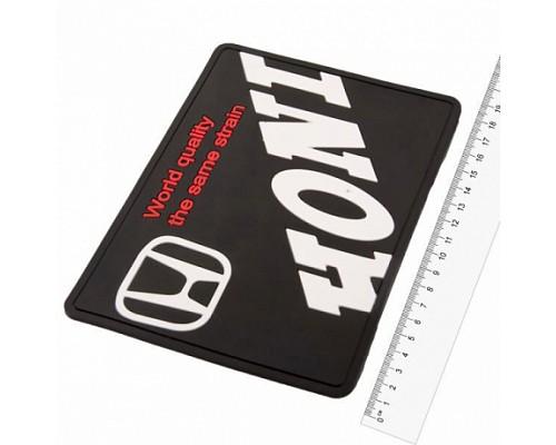 Коврик панели противоскользящий SW плоский с логотипом 190*125*3мм Honda