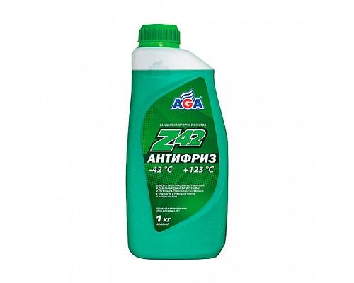 AGA048Z  Антифриз,готовый к прим.зеленый -42С  1кг. 1шт./10шт.