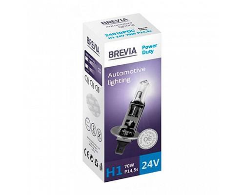 Автолампа BREVIA 24V H1 70W P14.5s Power Duty CP (карт.1шт) 24010PDC