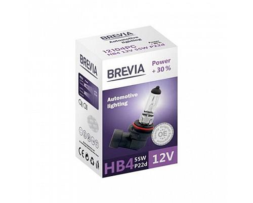 Автолампа BREVIA 12V HB4 55W P22d Power +30% CP (карт.1шт) 12104PC