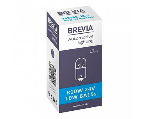 Автолампа BREVIA 24V R10W 10W BA15s CP (упак. 10шт) 24306C