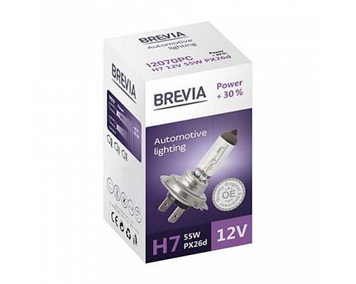 Автолампа BREVIA 12V H15 15/55W PGJ23t-1 Power +30% CP (карт.1шт) 12015PC