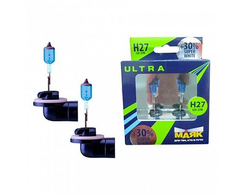 Автолампа МАЯК 12V H27/W2 27W Ultra PG13 (881) (2шт.) 82727 W/2SW+30%