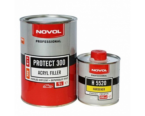 NOVOL грунт MS PROTECT 300 белый (1л+0,25л) комплект