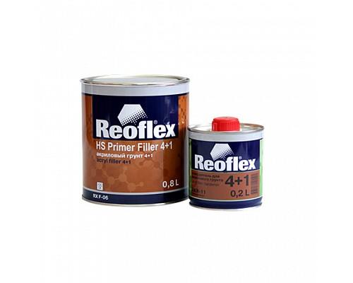 Reoflex - Грунт акриловый  2К  4+1 (серый) (Комплект - 0,8л+ отв. 0.2л) 1шт./6шт.