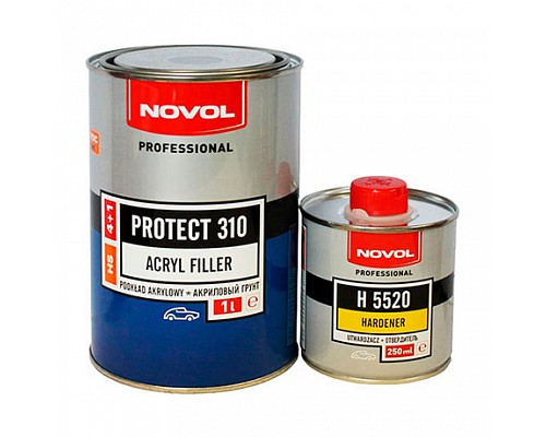 NOVOL грунт HS 4+1 PROTECT 310 серый (1л+0,25л) комплект