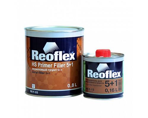 Reoflex - Грунт акриловый 2К 5+1 HS (БЕЛЫЙ) (Комплект - 0,8л+ отв. 0.16л) 1шт./6шт. RX F-03
