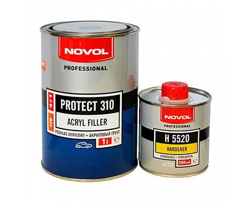 NOVOL грунт HS 4+1 PROTECT 310 черный (1л+0,25л) комплект