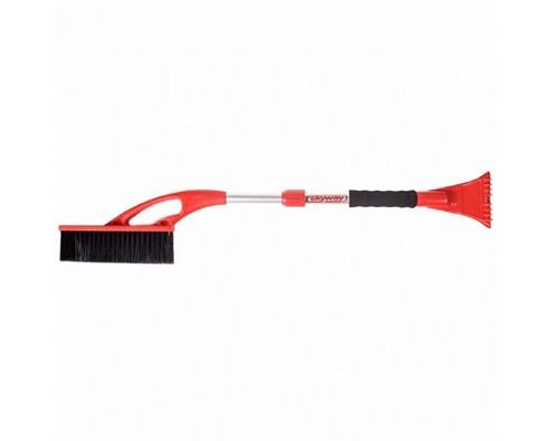 Щетка от снега со скребком 80-100 см SKYWAY с телескопической ручкой 1/12