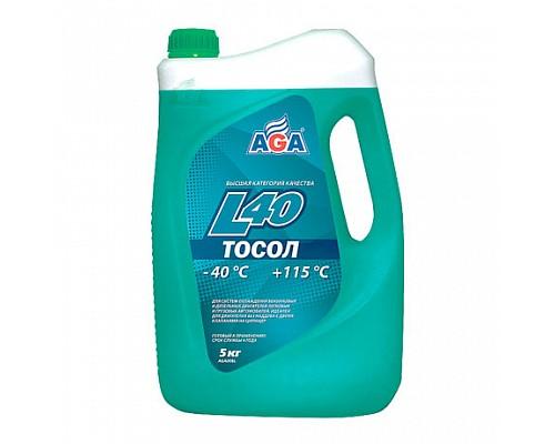 AGA008L Тосол AGA-L40, готовый к прим -40 5кг. 1шт./3шт.