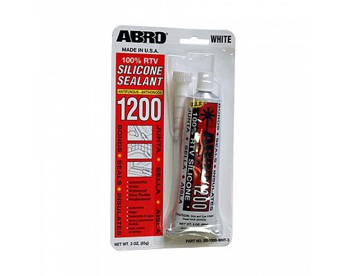 ABRO герметик силиконовый белый 1200 85г. SS-1200-WHT-3 1шт./12шт.