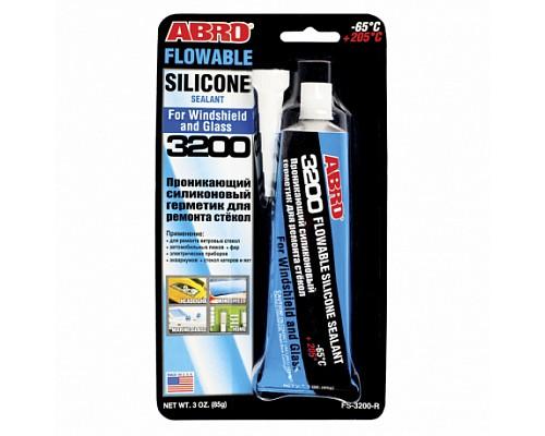 ABRO герметик силиконовый для ремонта стекол 85г FS-3200-R /36шт