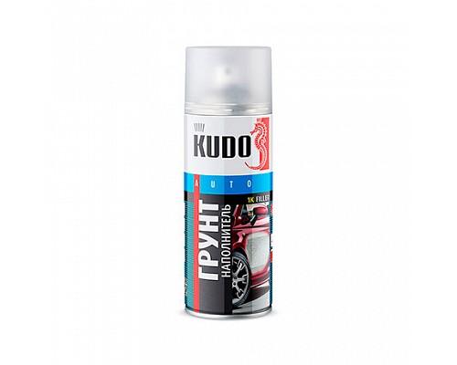 KUDO KU-2203 Грунт-наполнитель автом.акриловый черный 520мл./6шт.