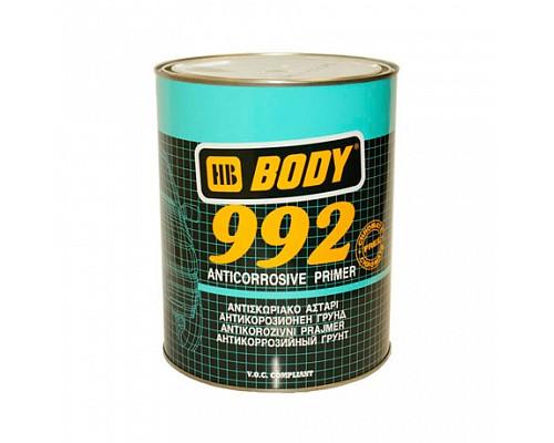 BODY грунт 992 антикоррозийный черный 1л. 1шт./6шт.