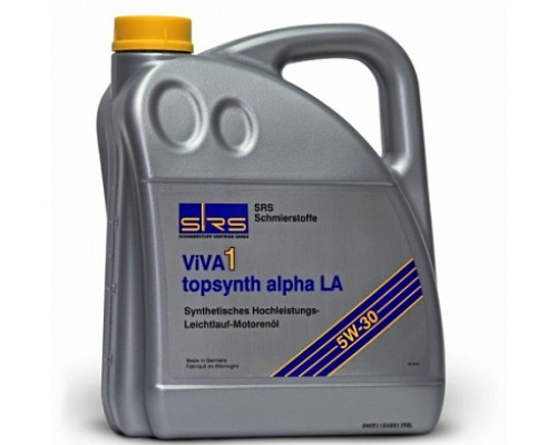 SRS Масло моторное VIVA 1 topsynth alpha LA 5W-30 (5 л.)