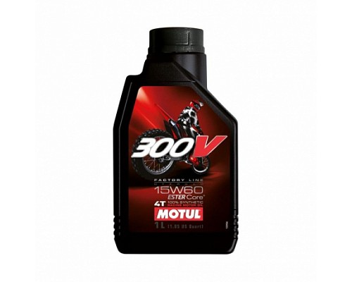 Motul масло 4Т мото синт 15w60 300V Off ROAD ESTER Core /1L/ 104137