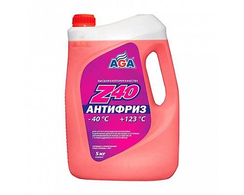 AGA002Z  Антифриз, готовый к прим.красный -40 5кг. 1шт./3шт.