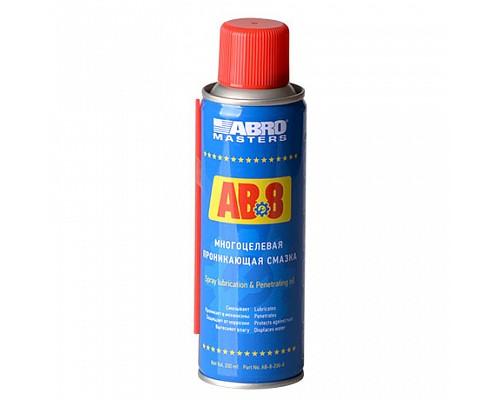 ABRO Смазка многоцелевая проникающая AB-8-200-R 200 г. ABRO Masters 1шт./12шт.