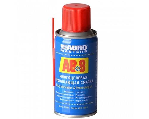 ABRO Смазка многоцелевая проникающая AB-8-100-R 100 г. ABRO Masters 1шт./24шт.
